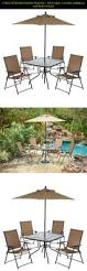6 Piece Garden Furniture Patio Set - 6 piece outdoor folding patio set with table 4 chairs umbrella