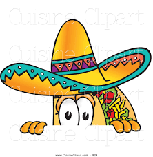 cartoon sombrero taco clipart funny pencil and in color taco clipart funny