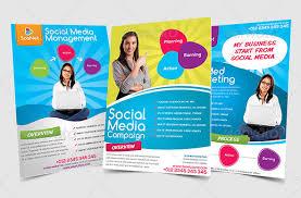 social media brochure template sle flyers for marketing fieldstation co