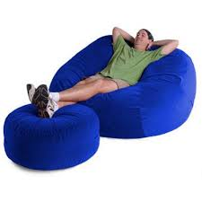 Jaxx Sphere Bean Bag Chair Xl With Ottoman 6 Feet Twill Fl Zjf Sph6