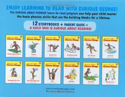 amazon curious george curious phonics 12 book
