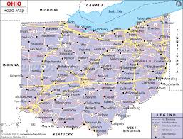 ohio on the map of usa ohio road map map of roads and highways in ohio usa