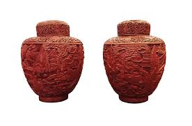 Red Lacquer Vase Our Collection Chinese Cinnabar Jars Chambers Interiors
