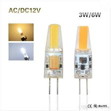 10pcs lot g4 cob led lamp 3w 6w dc ac 12v led cob light bulb