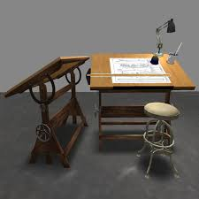 Wooden Drawing Desk Antique Drafting Table Ashley Home Decor