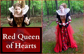how to make the red queen of hearts costume alice in wonderland