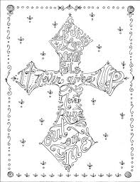 Christian Art Designs Religious Coloring Pages For Adults Coloring Book Of Crosses