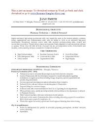 pharmacy technician resume pharmacy technician resume sle exles of pharmacy technician