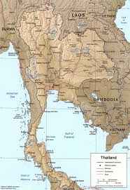 Physical Map Of East Asia by Geography Of Thailand Wikipedia