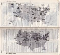 Piedmont Airlines Route Map by Airline Timetables United Airlines September 1995