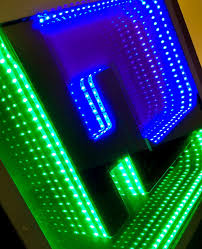 how to make led strip lights hitlights on infinity mirror