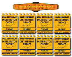 Counselor Distributor Choice Awards 2013 Custom Label Bottled Water Promotions