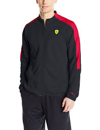 ferrari jacket puma men u0027s ferrari sweat jacket black x large at amazon men u0027s