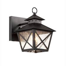 Outdoor Sconces Home Depot Bel Air Lighting Farmhouse 1 Light Outdoor Black Wall Lantern With