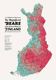 Population Map This Population Map Of Finland U0027s Bears Is A Colorful Ursine