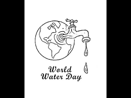 how to draw world water day cartoon drawing step by step youtube