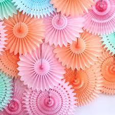 paper fans decorations awesome paper fan decoration different size tissue paper fans