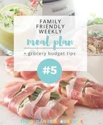 weekly meal plan 5 the organised housewife