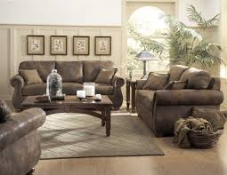 rustic living room furniture ideas with brown leather sofa rustic leather furniture ideas tedxumkc decoration