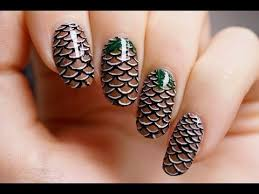 piggieluv pine cone nail art video tutorial nail art