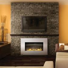 painting indoor brick fireplace room design decor modern and