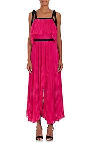 chiffon maxi dress philosophy di lorenzo serafini pleated chiffon maxi dress