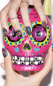 7 best day of dead nails images on pinterest make up beauty