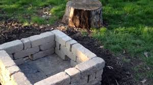 Outdoor Cinder Block Fireplace Plans - new outdoor fire pit youtube