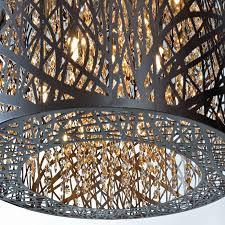 Et2 Inca 9 Light Pendant Lighting E21308 10bz Inca 9 Light Single Pendant In Bronze With
