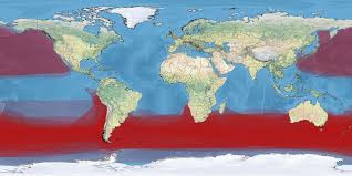 Southern Ocean Map Agreement On The Conservation Of Albatrosses And Petrels