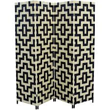 panel room divider ore international 4 panel paper straw weave screen walmart com