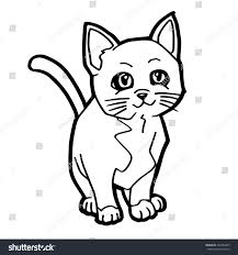 cat coloring page vector stock vector 332784059 shutterstock