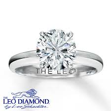 leo engagement rings the leo 2 carat solitaire 14k white gold ring