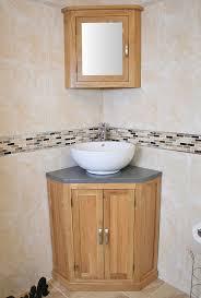 Curved Corner Vanity Unit Grey Quartz Top Corner Vanity Unit With White Ceramic Basin