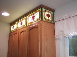 faux stained glass kitchen cabinets stained glass for kitchen cabinets kitchen sohor