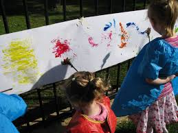 textured painting with nature u0027s paint brushes learning 4 kids