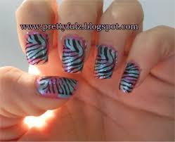 prettyfulz konad nail art cotton candy zebra nail art