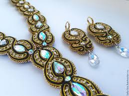 gold crystal beaded necklace images Necklace possession soutache gold luxury black crystal shop jpg