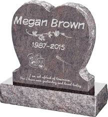 upright headstones single heart upright headstone polished front and back with 30 base