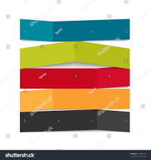 infographic origami templates business vector illustration stock