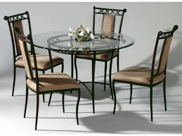 Rod Iron Dining Room Set Wrought Iron Glass Top Dining Table 7 Excellent Wrought Rot