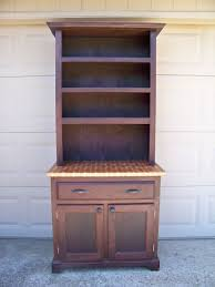 handmade walnut and butcher block maple hutch by lone star custom made walnut and butcher block maple hutch