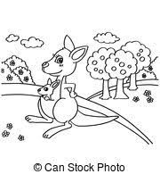 coloring page kangaroo coloring page illustration featuring