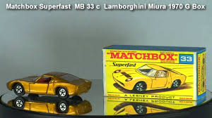 matchbox lamborghini lamborghini miura matchbox superfast mb 33 c 1970 youtube