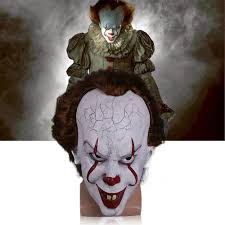 horror masks halloween aliexpress com buy stephen king u0027s it mask pennywise costume