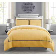 Hotel Collection Duvet Cover Set Chic Home Krystel Hotel Collection Yellow Banded Print Duvet Cover