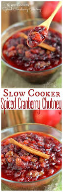 cooker spiced cranberry chutney on timeout