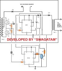 component schematic diagram inverter inverters 8b 12vdc 220vac tm