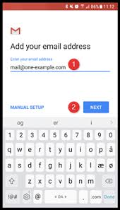 android email setting up email in gmail on android support one