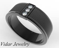 mens black diamond wedding band mens modern 14k white gold black diamond channel cluster infinity
